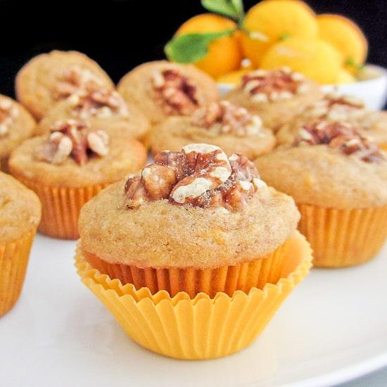 Lemon and Ginger Banana Bread Muffins - Snixy Kitchen
