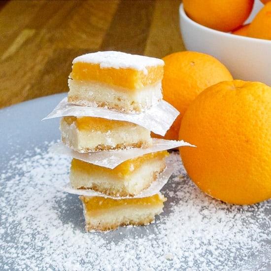 Blood orange curd shortbread bars - Snixy Kitchen