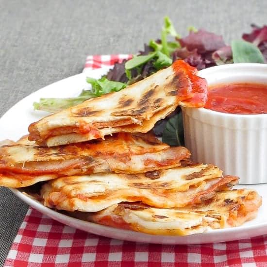Pepperoni Pizza Quesadillas