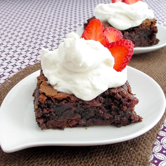 Chocolate Cake Mix Brownies With Strawberries