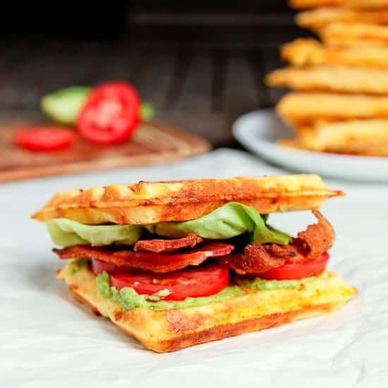 Crispy Cornmeal-Bacon Waffles Recipe — Dishmaps