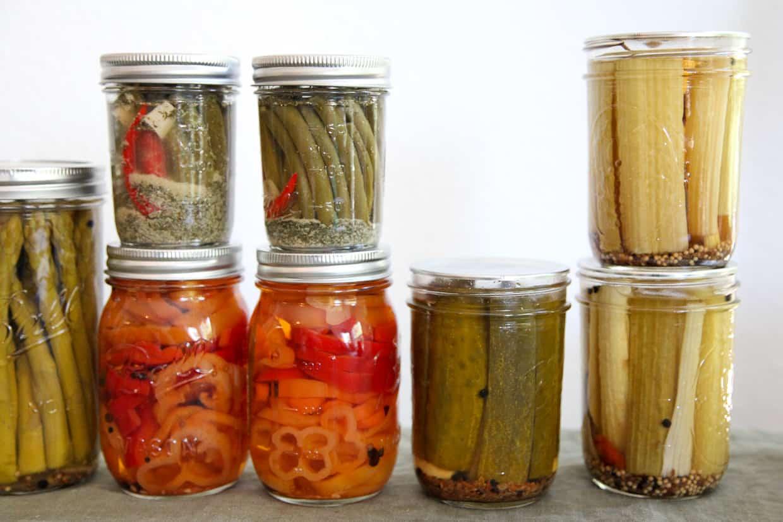 Mint Pickled Strawberries & Veggies
