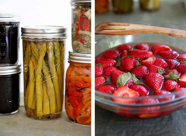 Mint Pickled Strawberries
