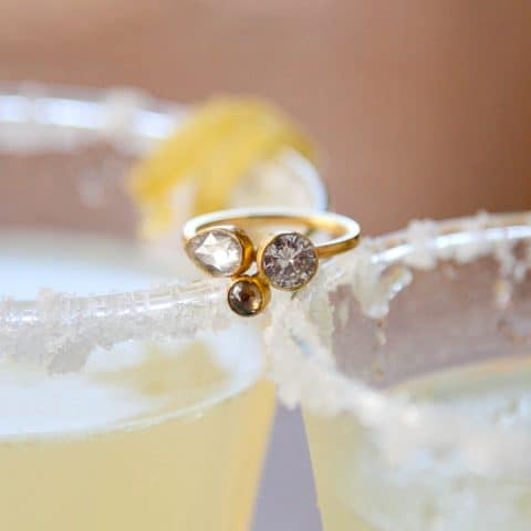 She Said Yes: Our sparkling ginger lemon signature mocktail