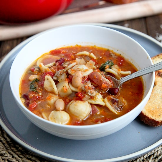 Sausage & Vegetable Minestrone Soup