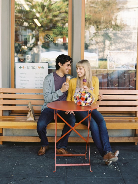 Ice Cream Engagement Photos