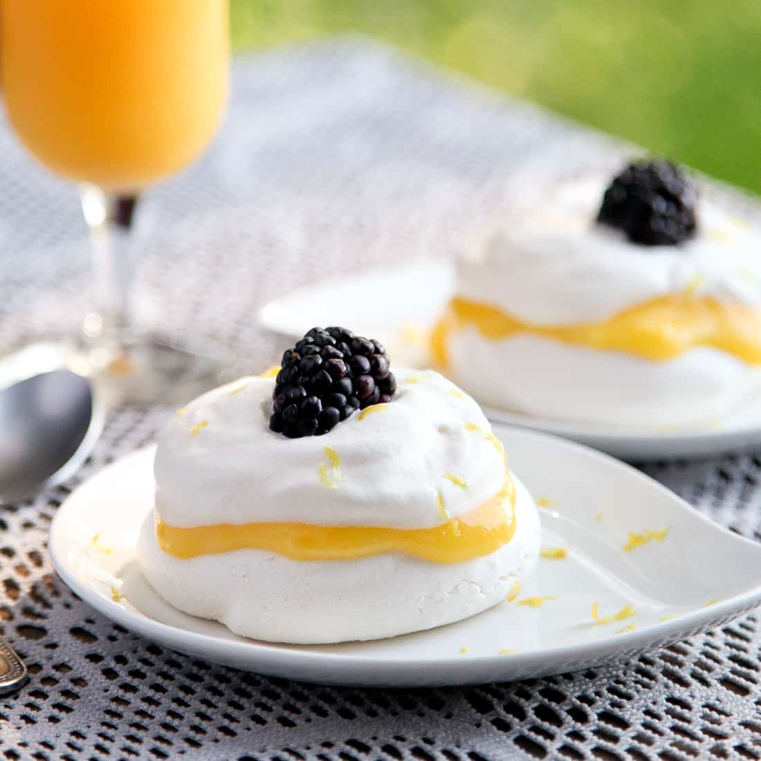 Lemon cream pavlova (Adapted from Matchbox Kitchen )