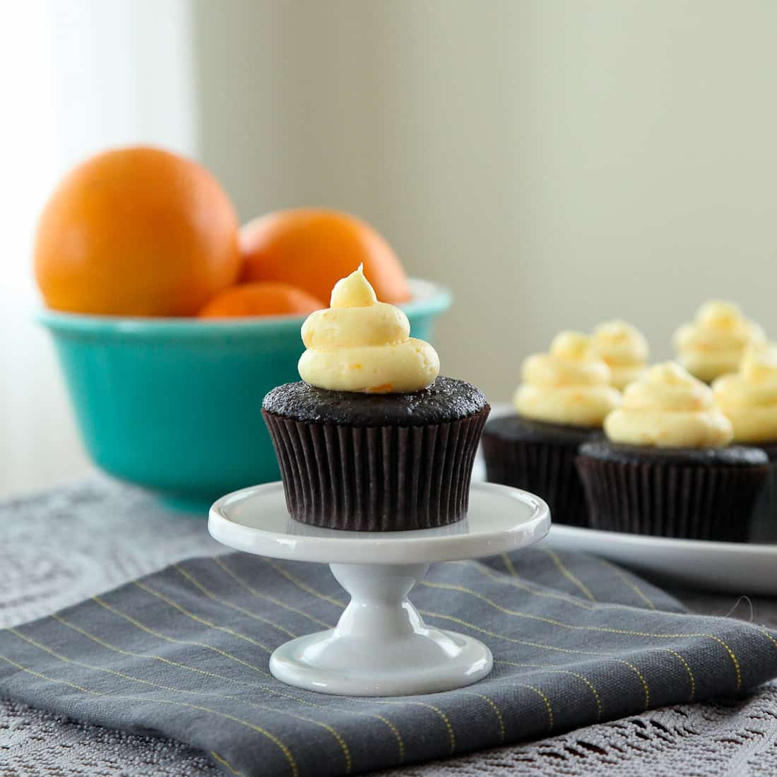 Fluffy Chocolate Orange Creamsicle Cupcakes