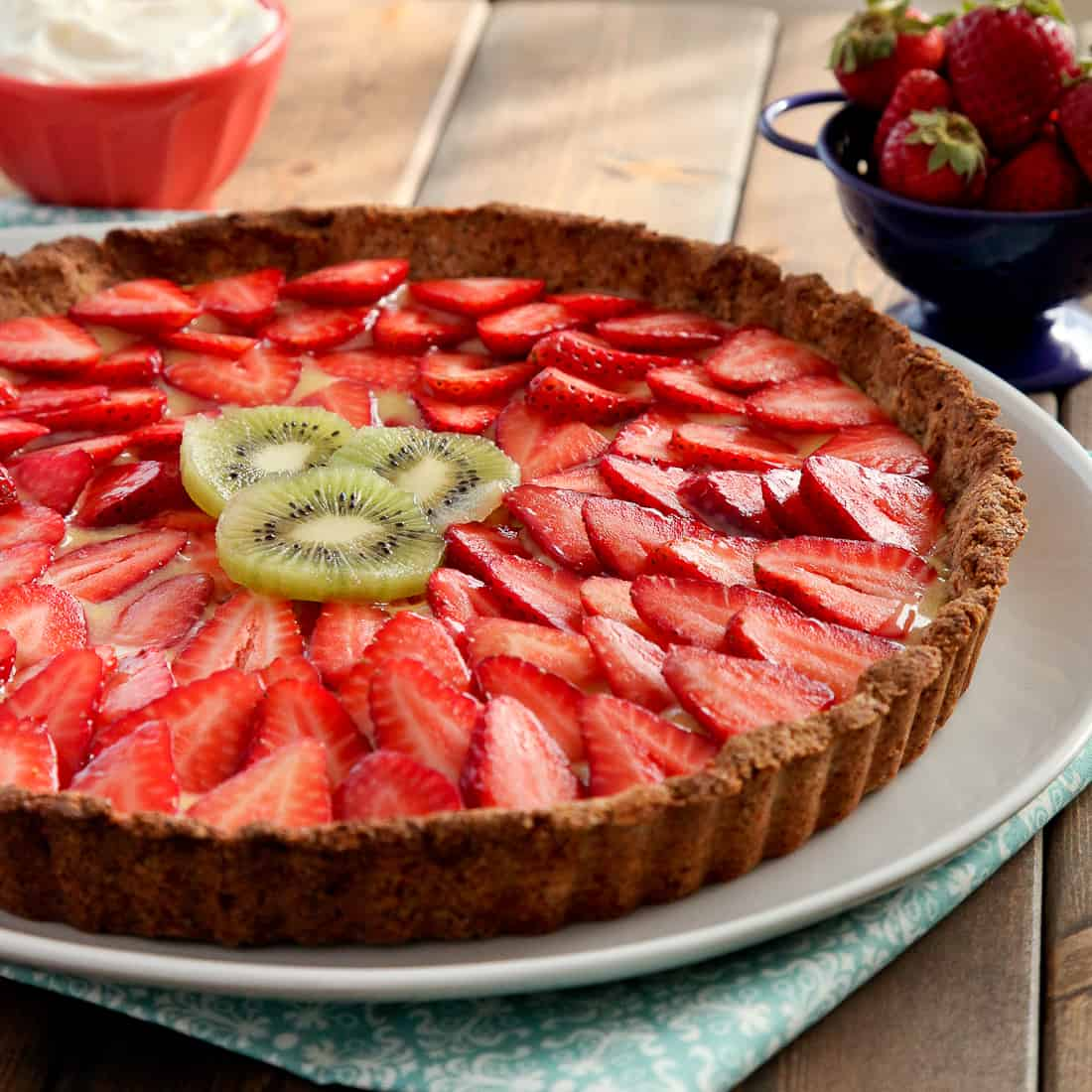 Strawberry Lemon Curd Tart