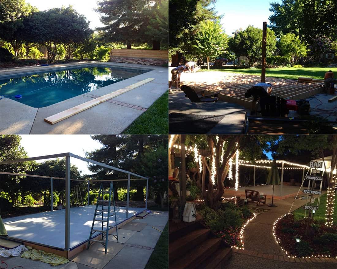 Dance Floor over pool