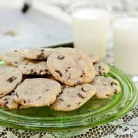 Dashboard chocolate chip cookies (gluten-free!)