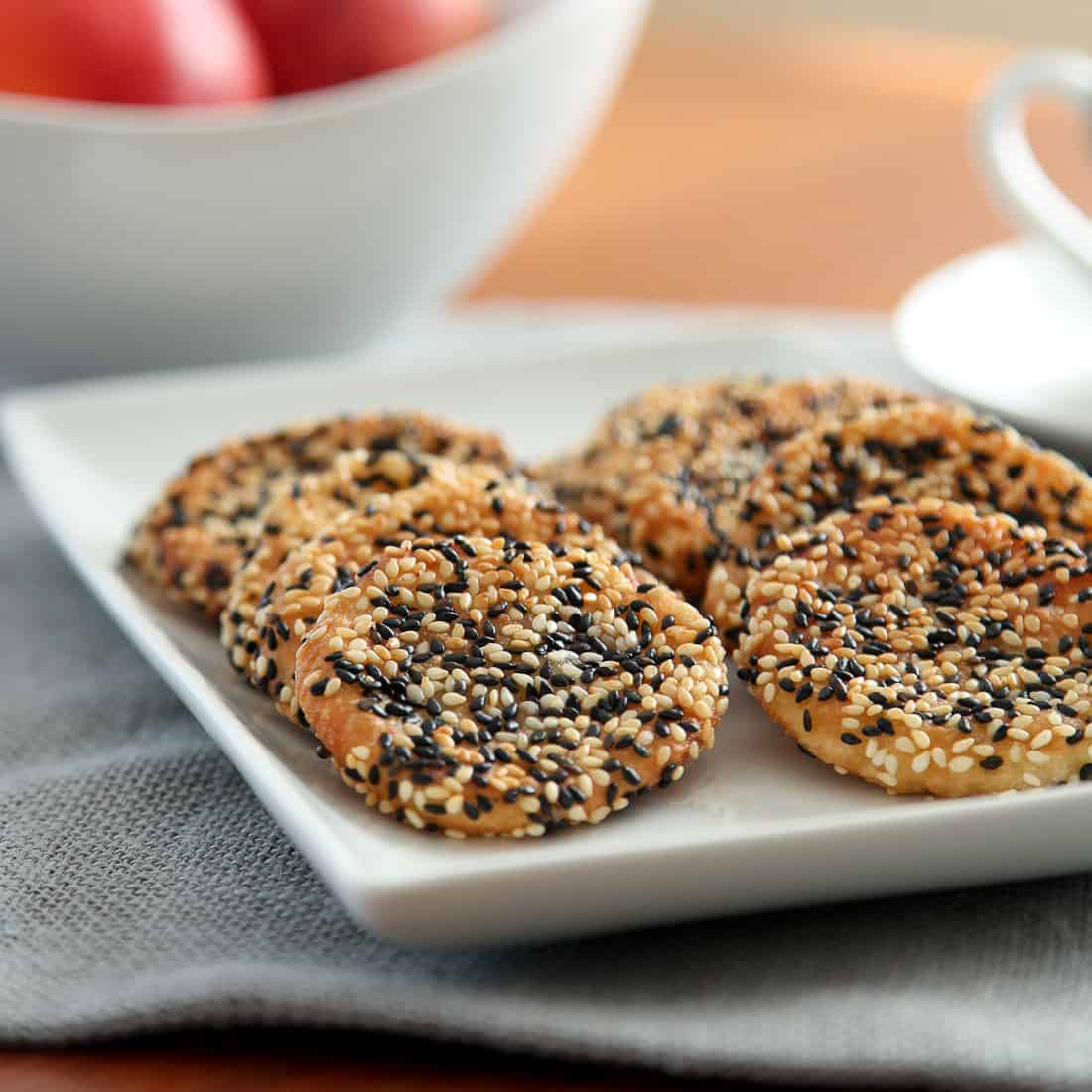 Peach Sesame Mochi Cookies