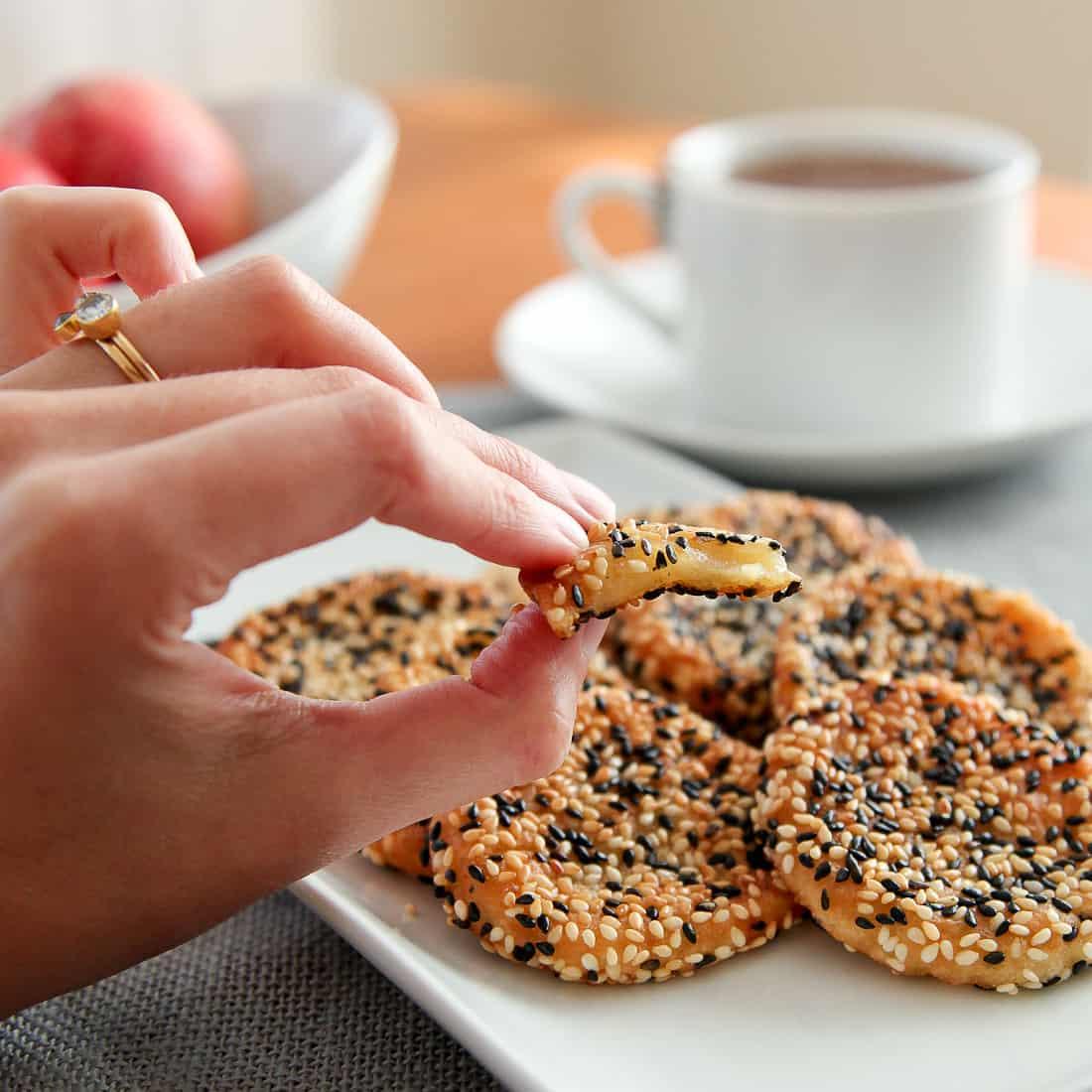 Peach Mochi Cookies