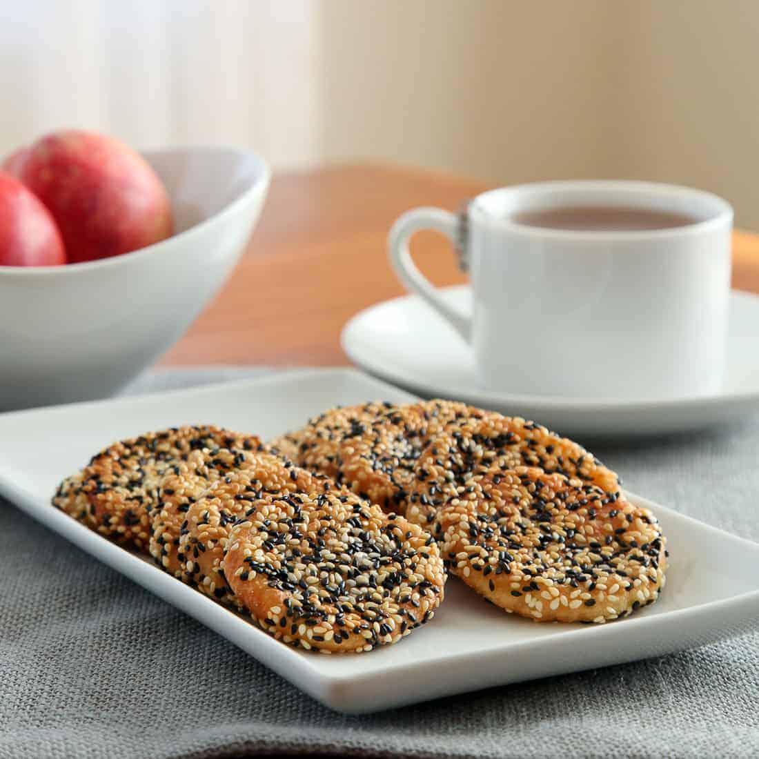 Sesame Peach Mochi Cookies
