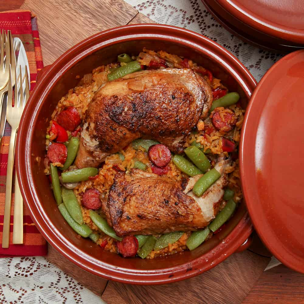 Chicken & Spanish Chorizo Weeknight Paella