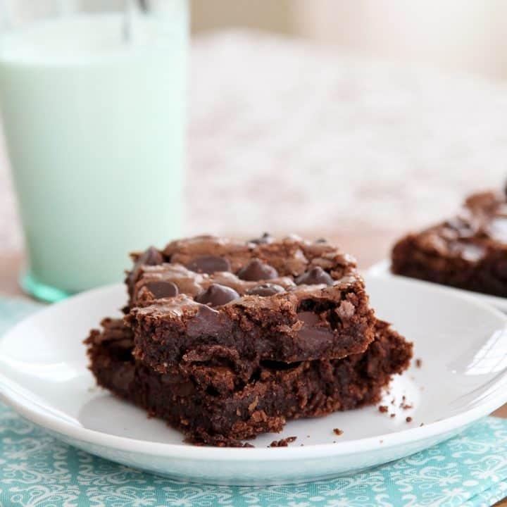 Triple chocolate gluten-free brownies
