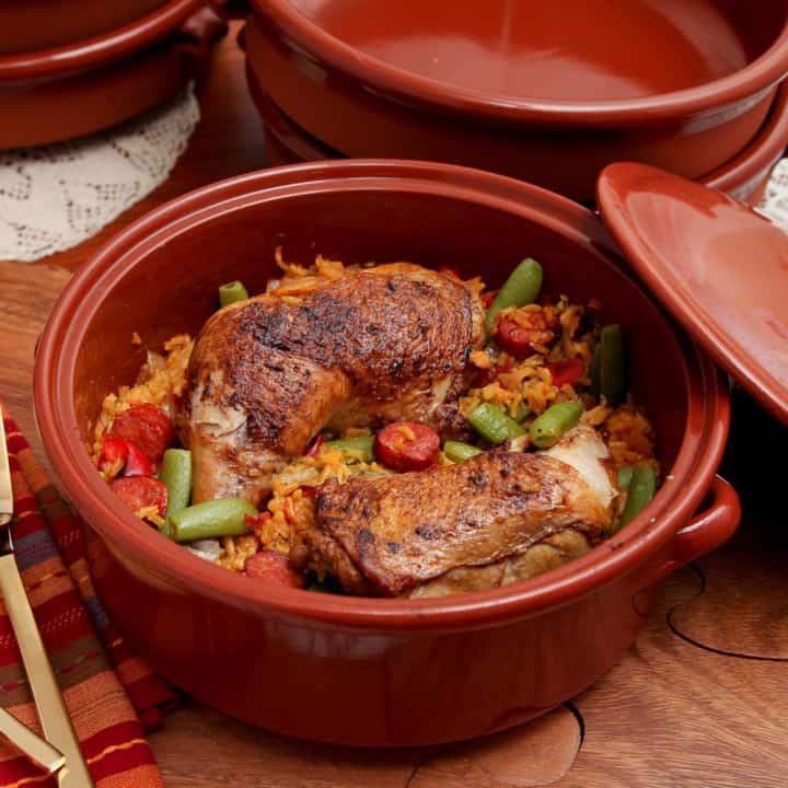 Chicken & Spanish chorizo weeknight paella