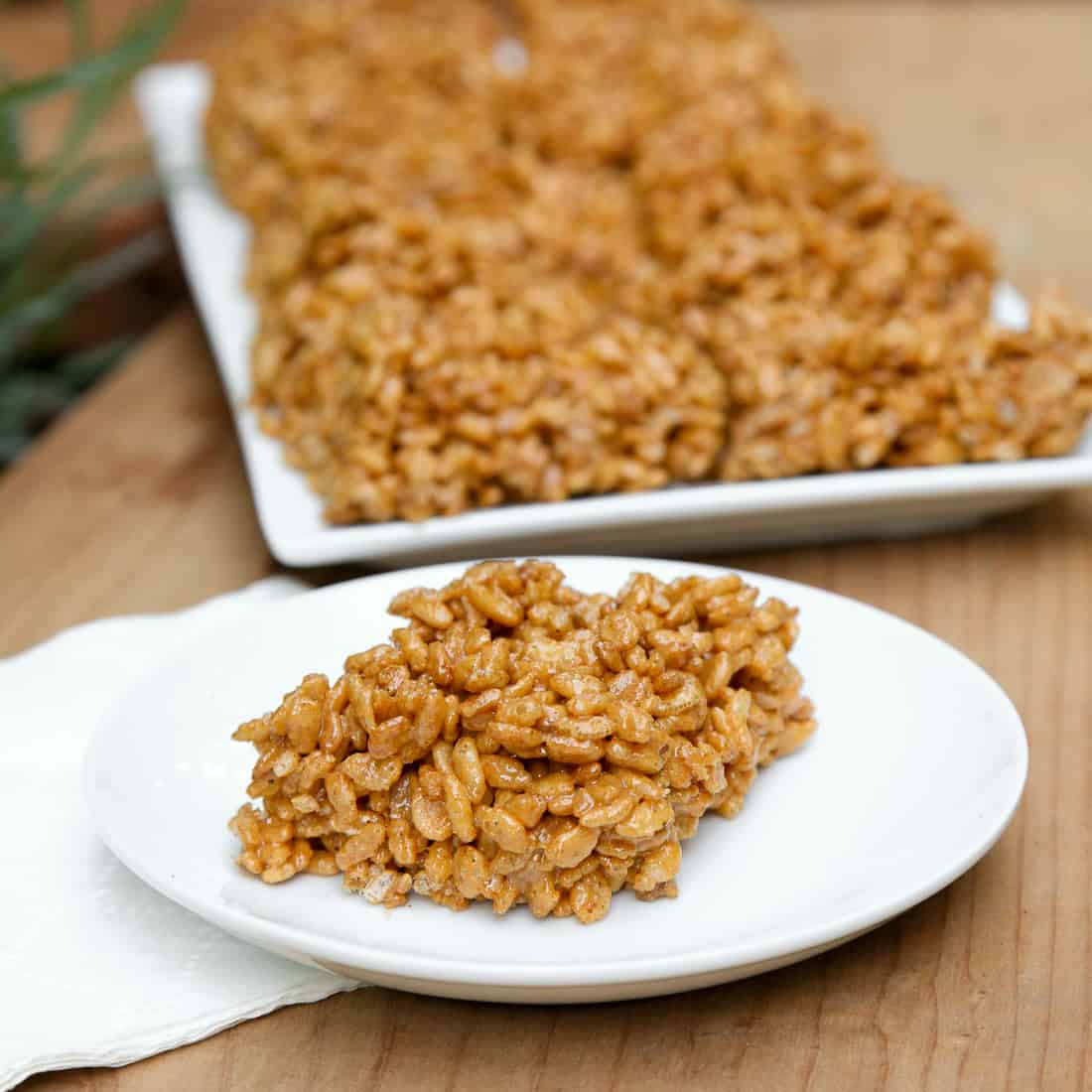 Pumpkin Pie Brown Rice Crispy Treats
