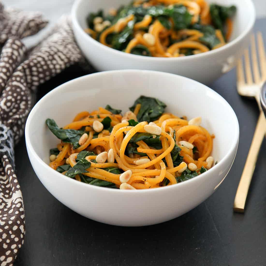 Butternut Squash Noodles with Sage