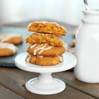 Iced oatmeal pumpkin spiced cookies (gluten-free)