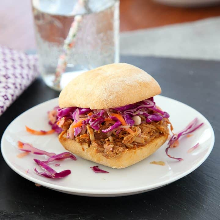 Coca Cola pulled chicken sliders