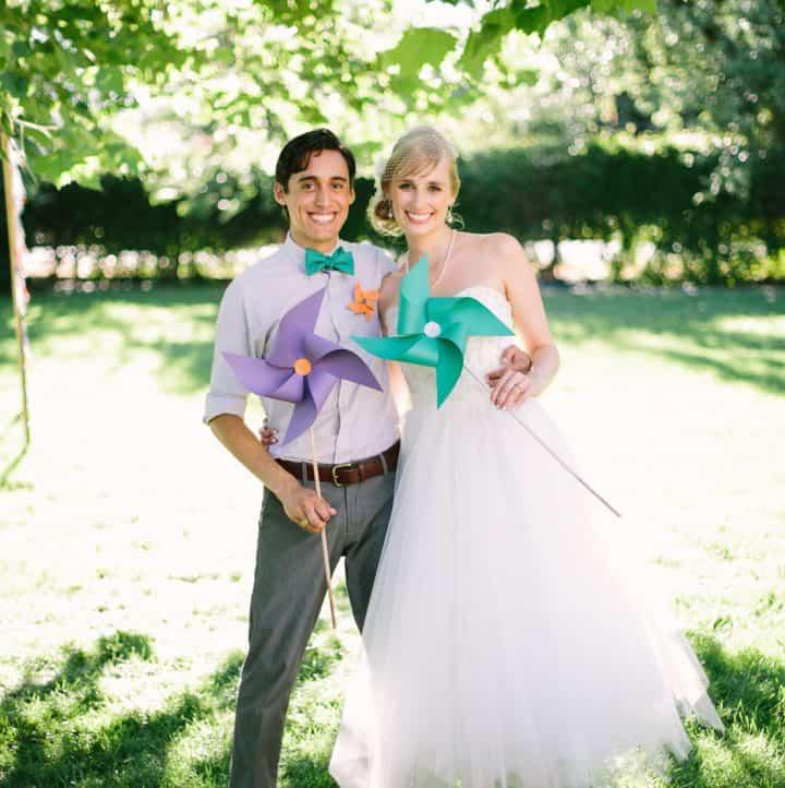 Bride & Groom Pinwheels