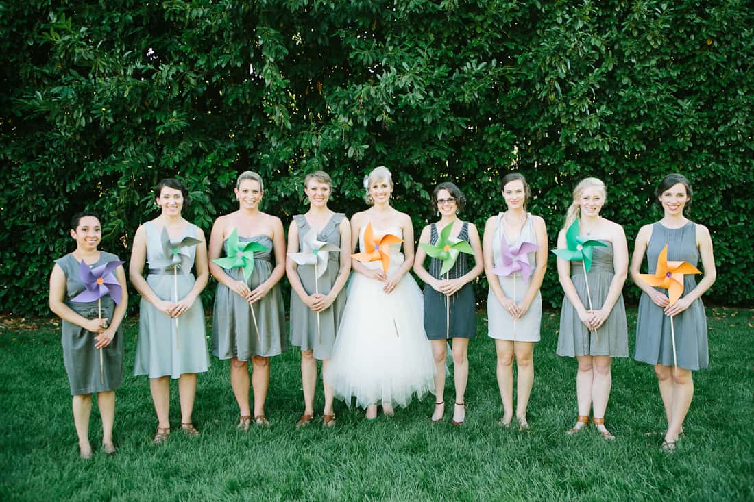 BridesmaidsPinwheels