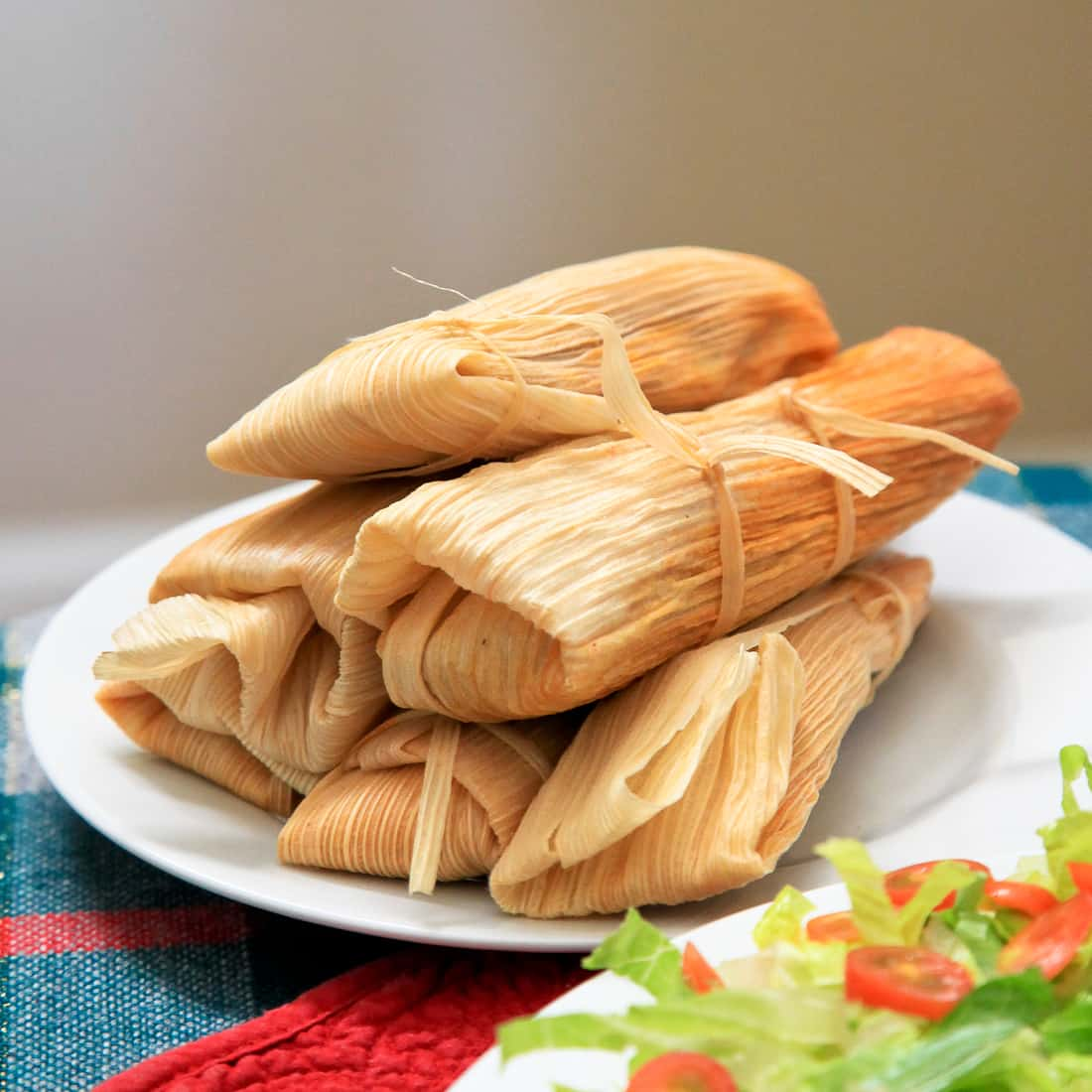 Homemade Pork Tamales with Chile Colorado