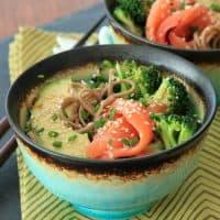 Smoked salmon soba bowl