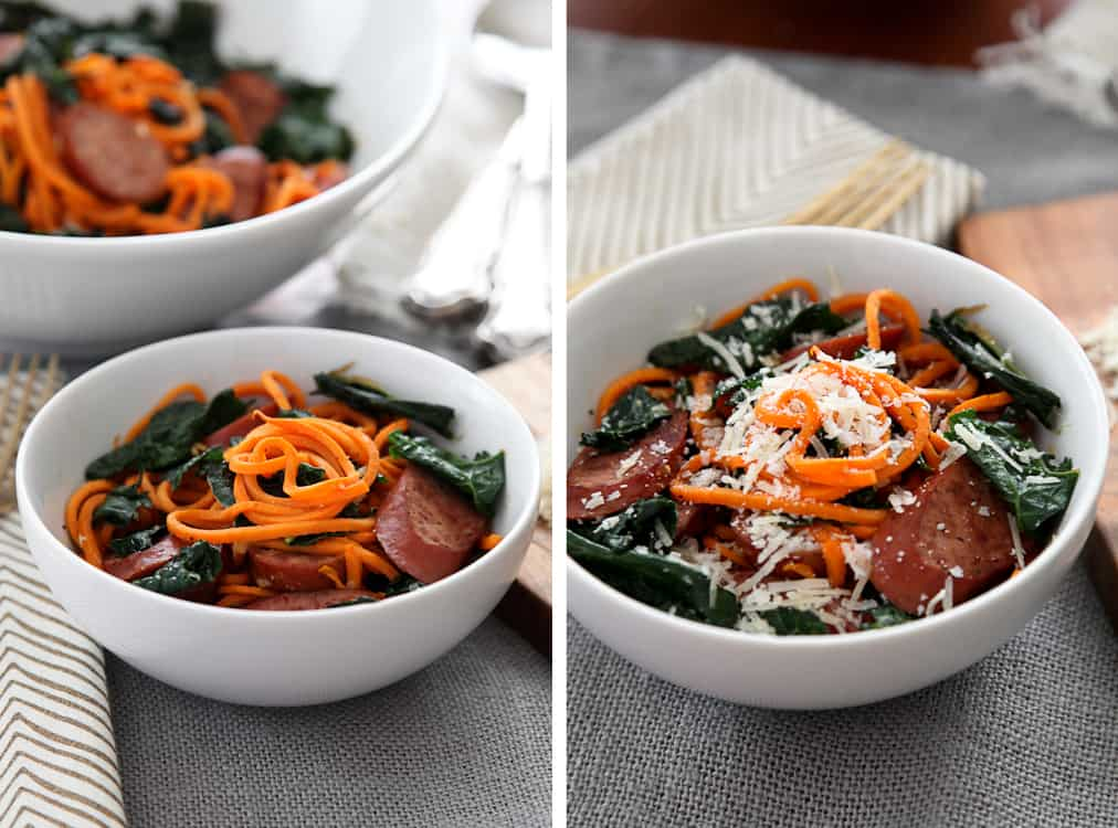 Sweet Potato Skillet Pasta with Kale
