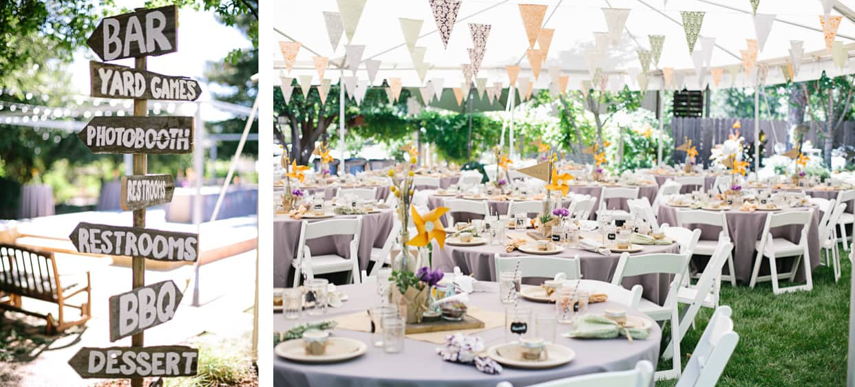 Diy backyard bbq wedding reception snixy kitchen backyard bbq wedding reception junglespirit Choice Image