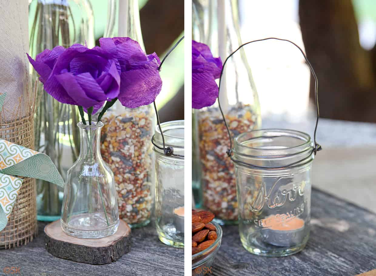 Backyard BBQ Wedding Centerpieces