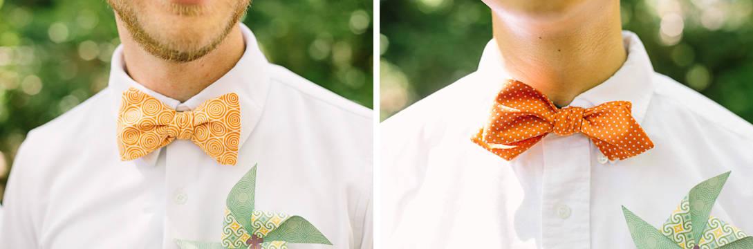 Orange Bow Ties