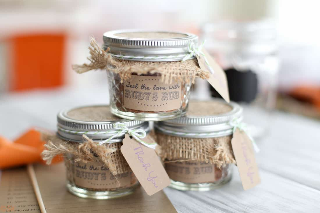 Diy backyard bbq wedding reception snixy kitchen for Wedding favor supplies