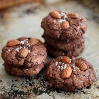 Flourless salted almond chocolate cookies