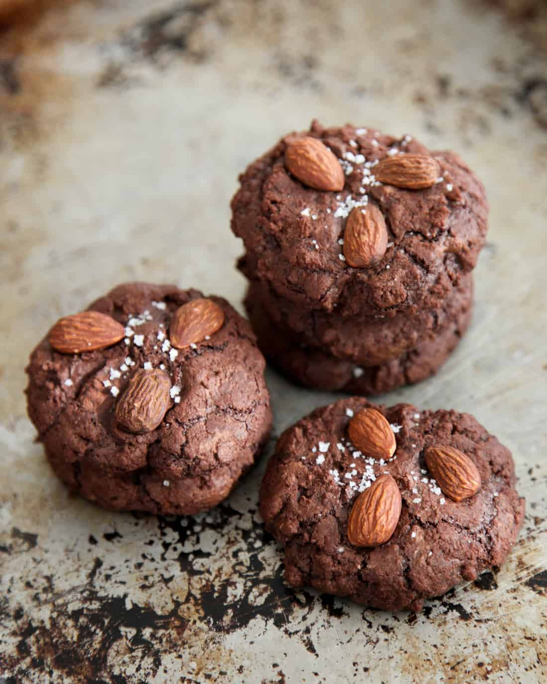 Salted Almond Chocolate Cookies
