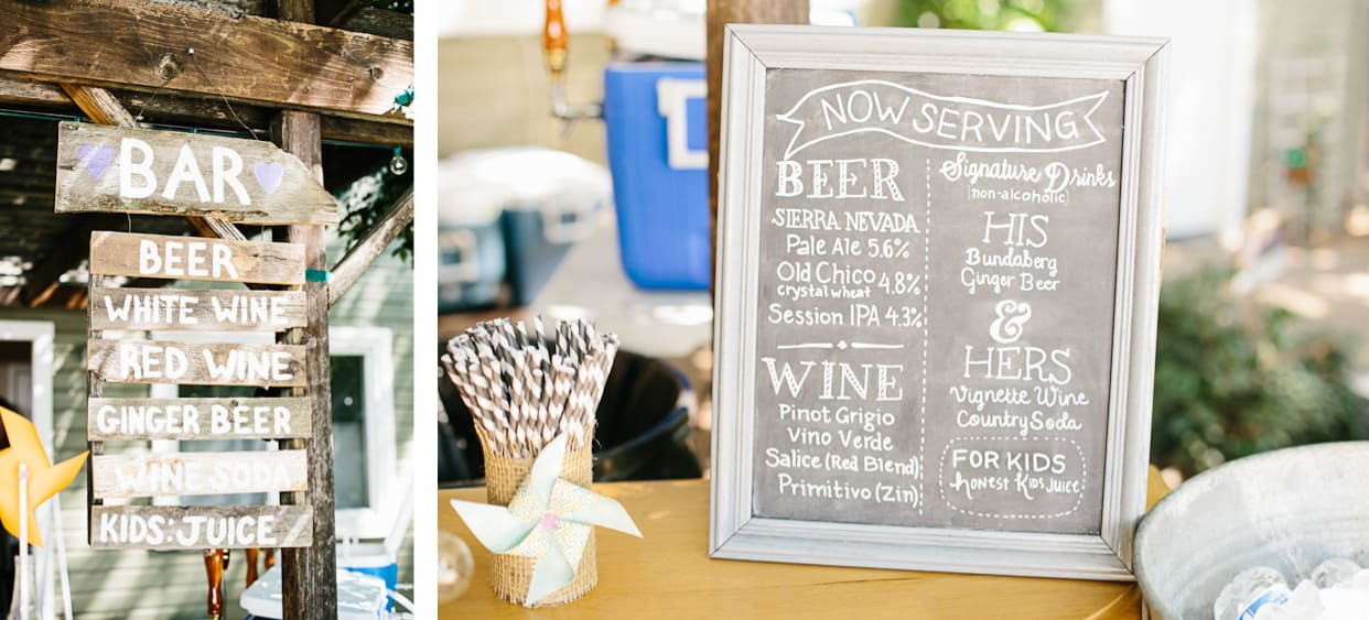 Backyard BBQ Wedding Chalkboard Signs