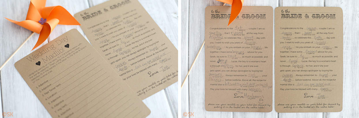 Backyard BBQ Wedding Madlibs