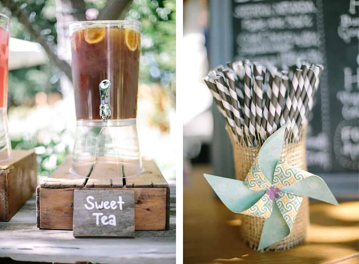 Backyard BBQ Wedding Iced Tea - DIY Backyard BBQ Wedding Reception