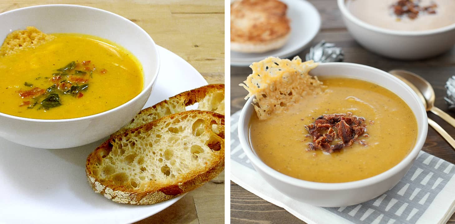 Butternut Squash Soup Before & After
