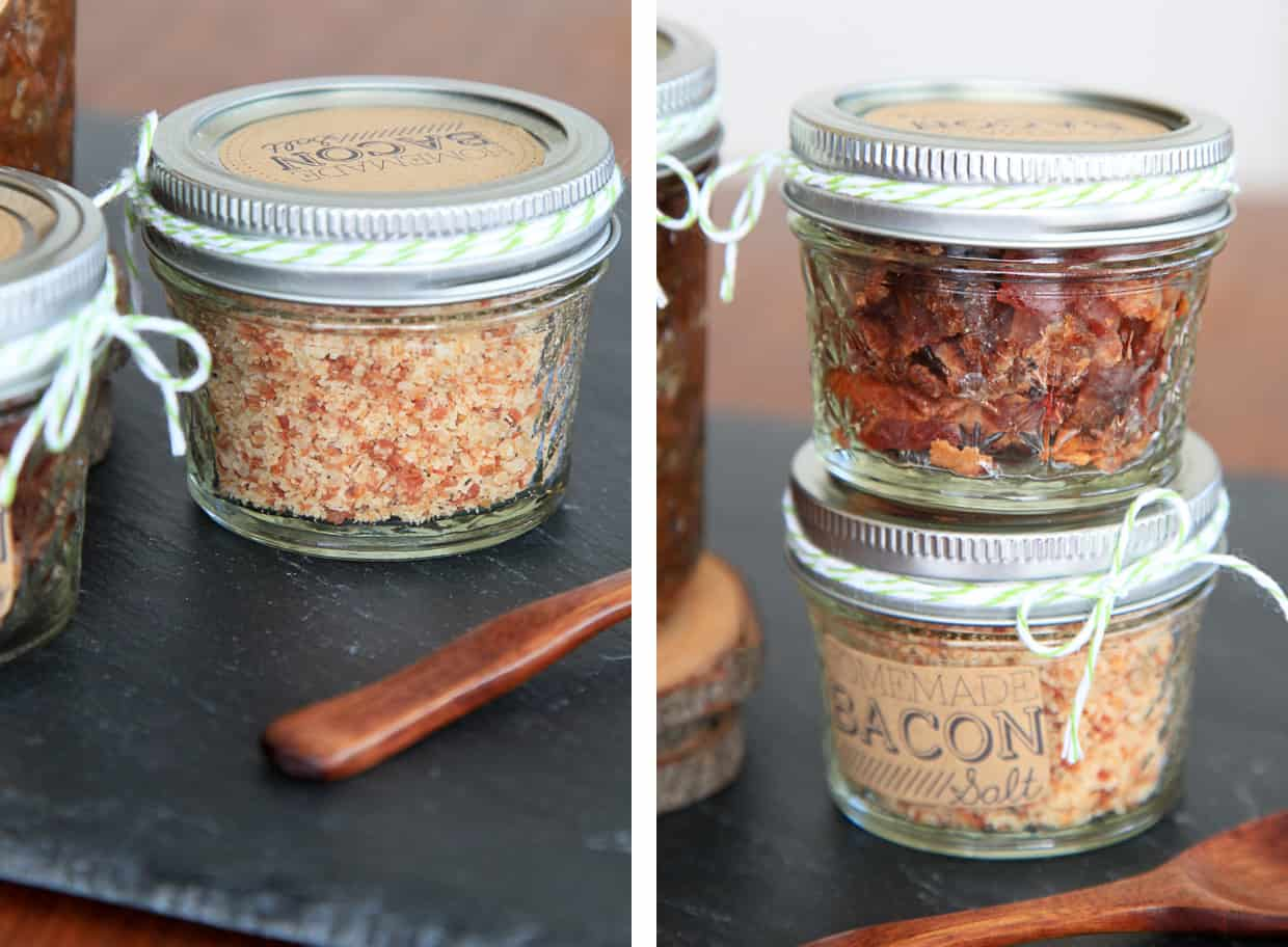 DIY Bacon Gifts - Bacon Salt & Bacon Candy