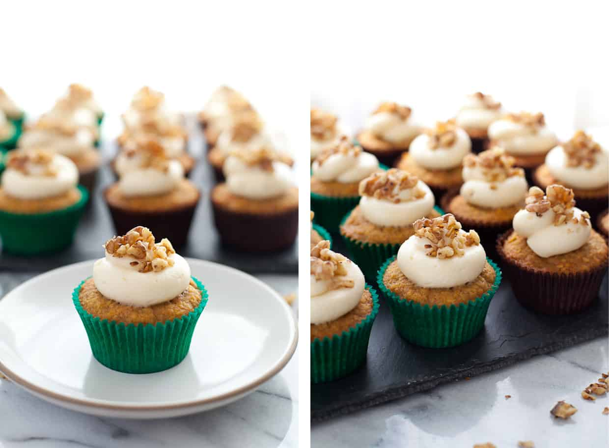 Gluten-free Carrot Cupcakes with Coconut
