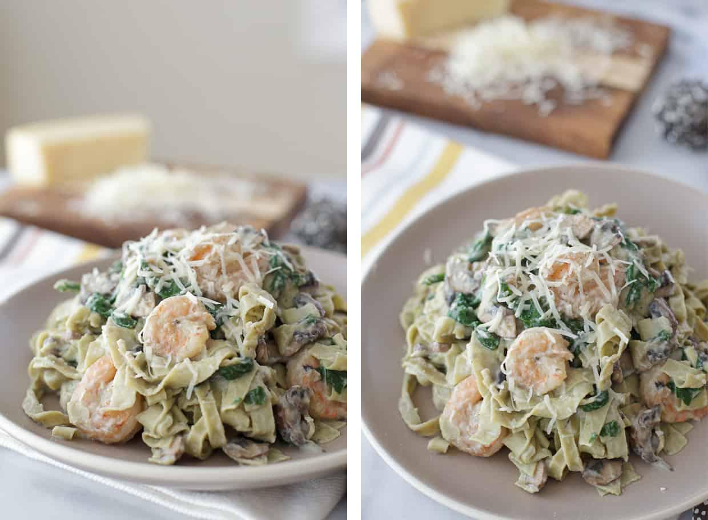 Shrimp veggie alfredo pasta recipe