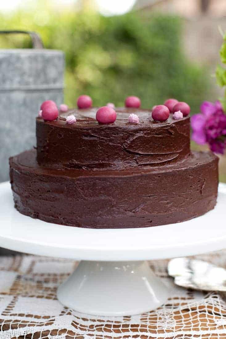 Top Of A Chocolate Cake Close Up