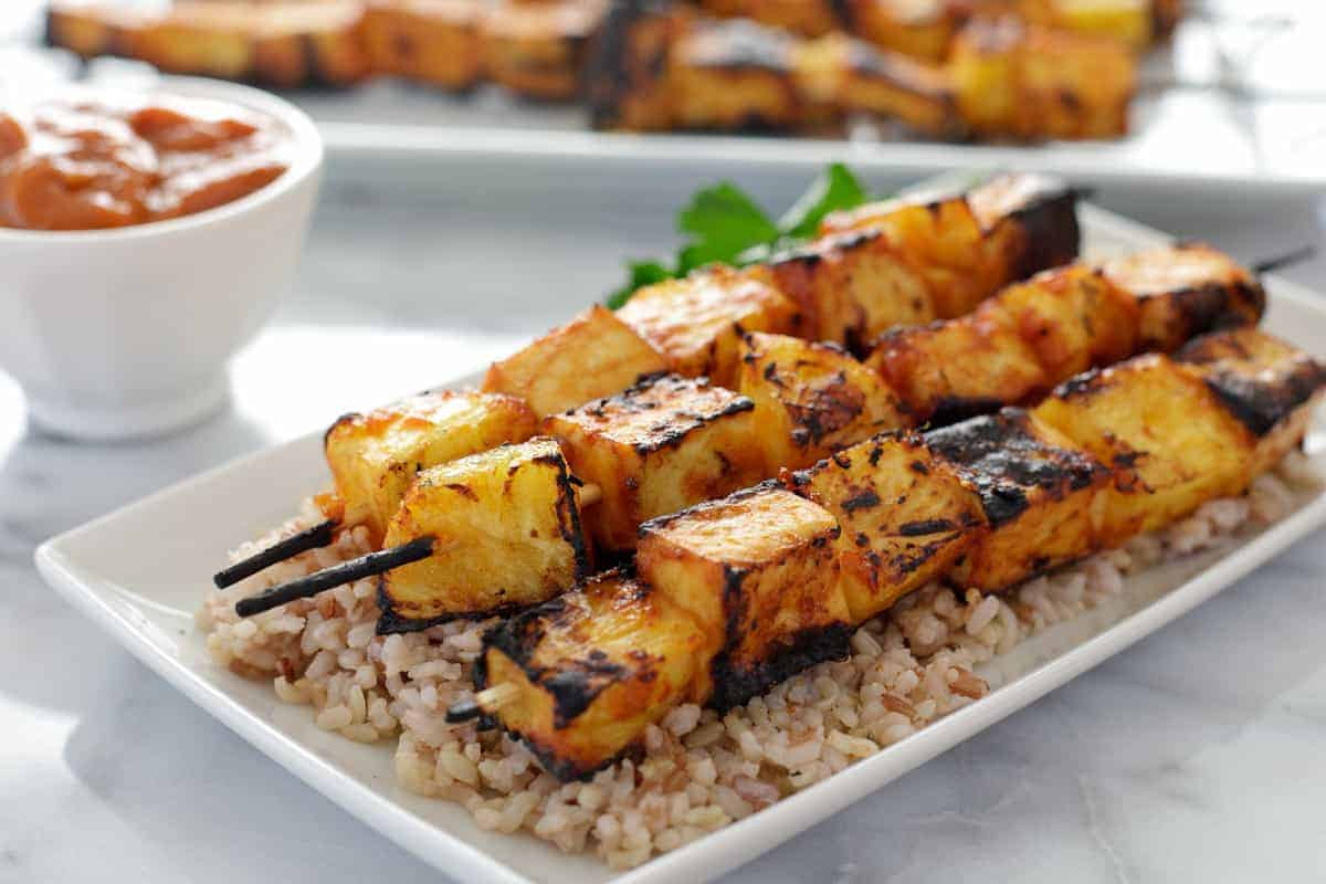 Hodo Soy Grilled Pineapple Tofu Skewers