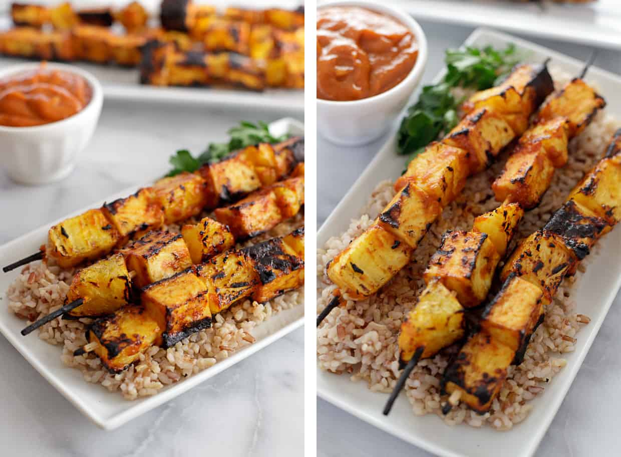Hodo Soy Pineapple Tofu Skewers
