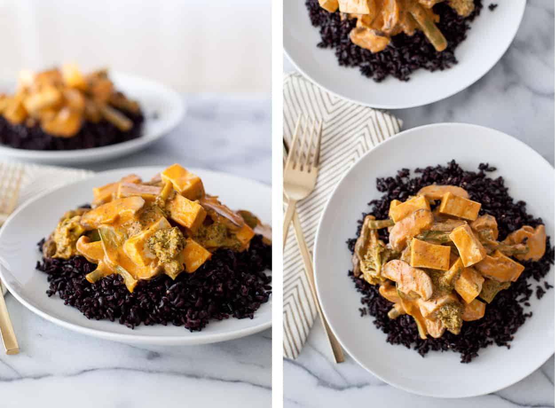 Tofu Thai Curry with veggies & rice
