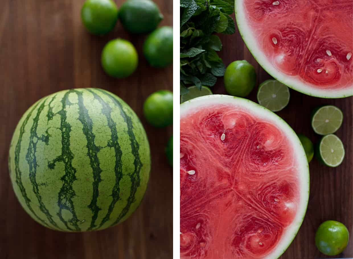Watermelon mint agua fresca