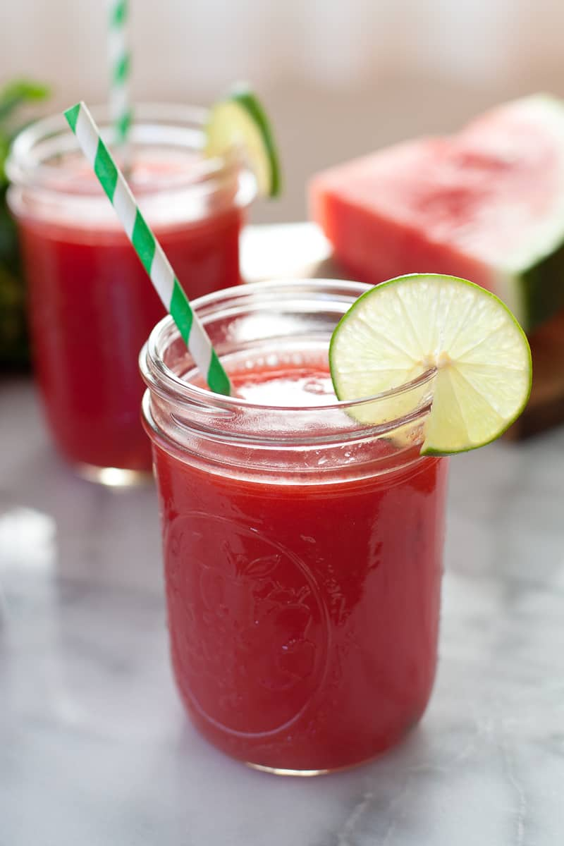 Watermelon Mint Agua Fresca with Honey