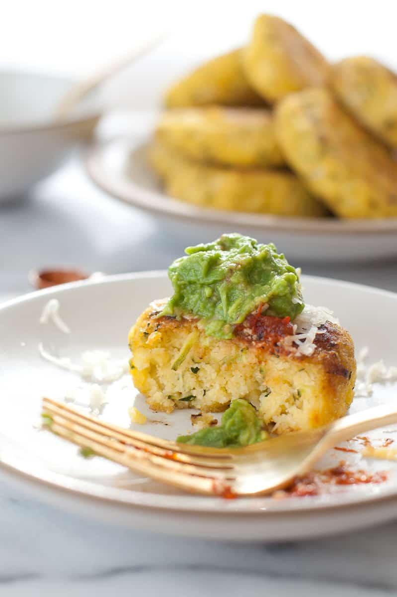 Zucchini Arepas with Salsa